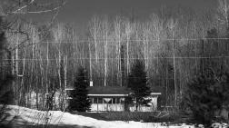 La maison de la grand-mère de Maisy, au bord du lac Pitibog
