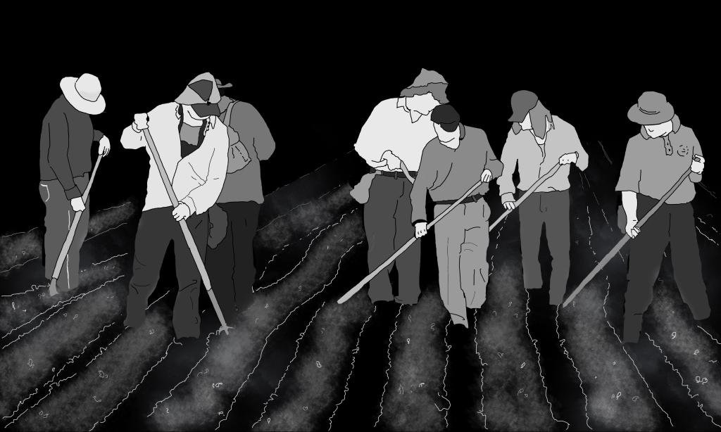 Illustration pour un dossier sur les Migrants au Canada à paraître dans la revue À Bâbord!