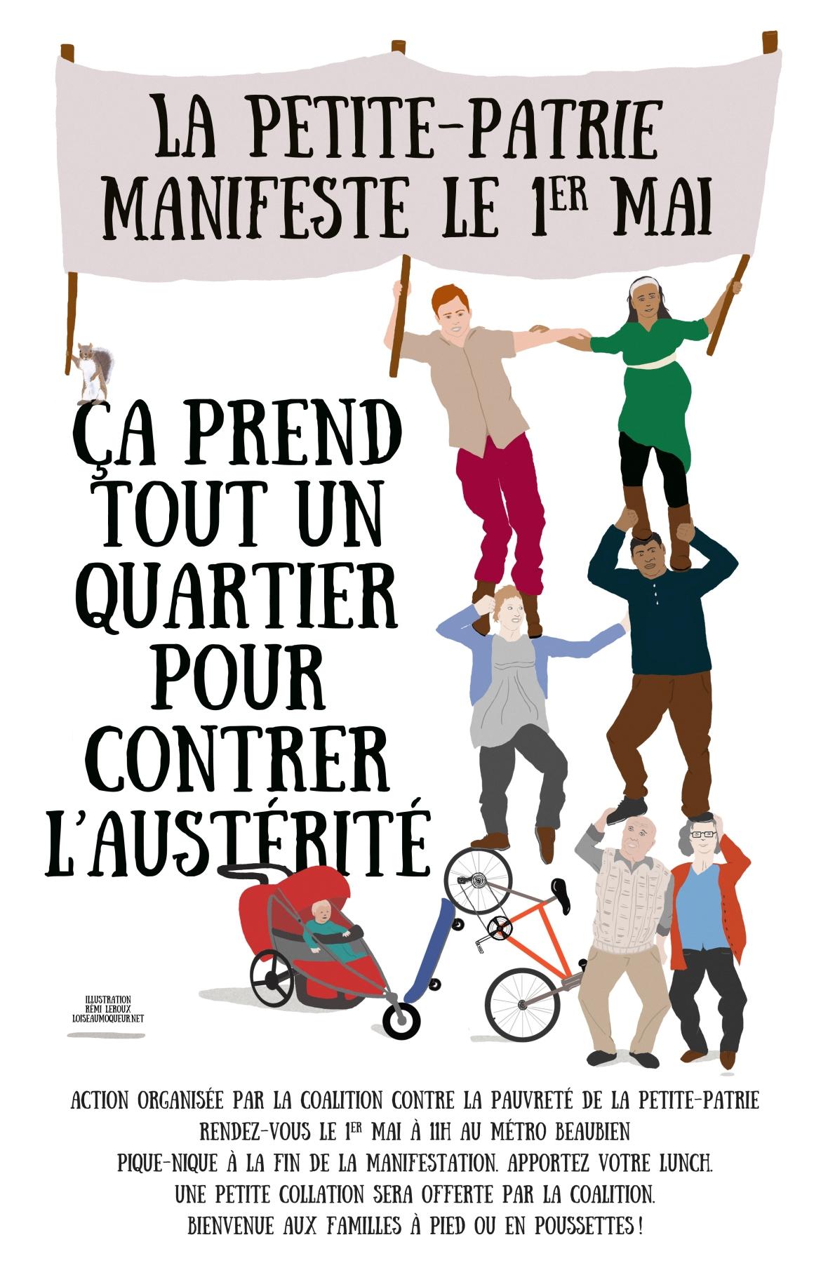 Manifestation du 1er mai 2015 - Petite-Patrie - Montréal - Québec
